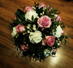 Pink and White Posy Arrangement